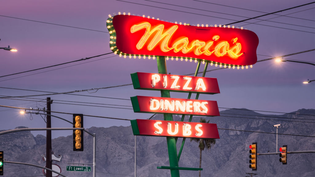 SAVED: Mario's Pizza Neon Sign