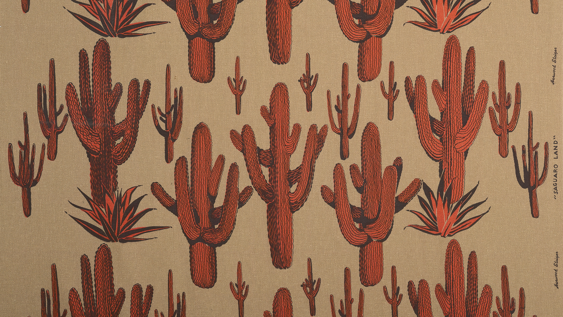 A Harwood Steiger Fabric with Saguaros